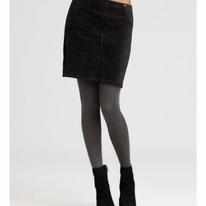 Hue Black Corduroy Skirt, Stretchy, Soft, Medium